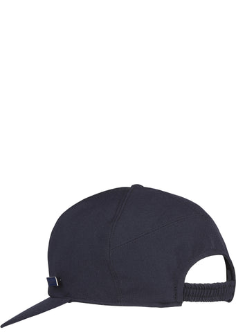 SS17 Gabardine Wool Club Cap in Navy