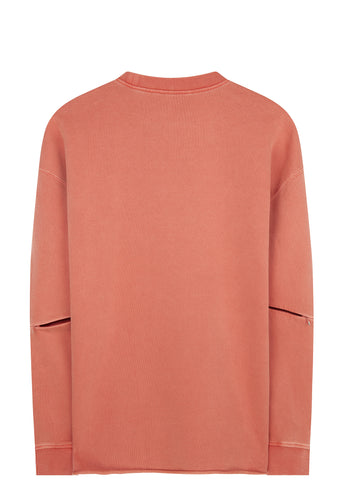 SS17 Long Sleeve Zipper Elbow Sweatshirt in Orange