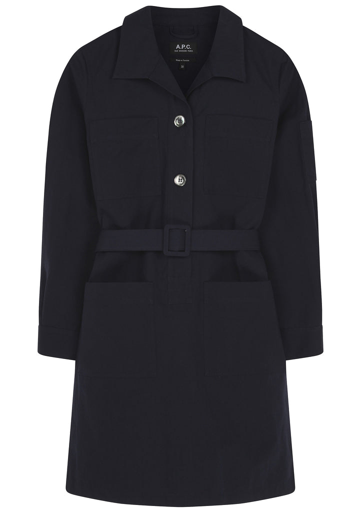 SS17 Livingstone Shirt Dress in Dark Navy