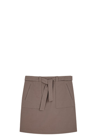SS17 Kenya Mini Skirt in Washed Brown