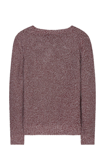 SS17 Sunshine Cotton Silk Marl Knit in Dark Red