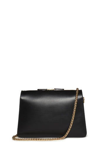SS17 Ella Chain Leather Bag in Black
