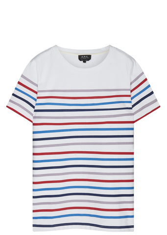 SS17 Heavy Cotton Stripe T-Shirt in Multicolour