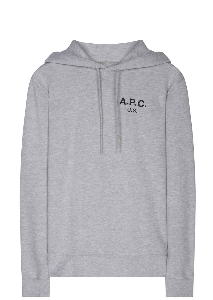 SS17 Made In The USA Logo Hoodie in Grey