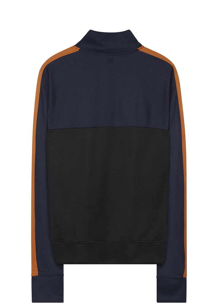 SS17 Zipped Panel Sweatshirt in Navy