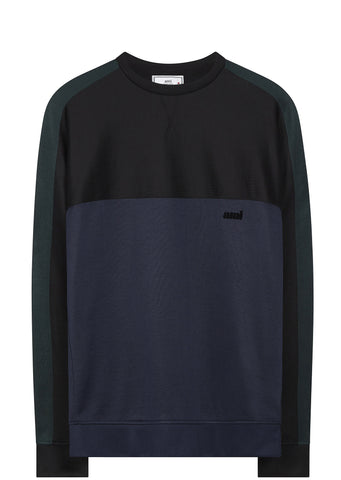 SS17 Crewneck Panel Sweatshirt in Navy