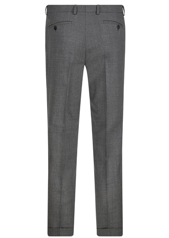 SS17 Tropical Wool Cuff Trouser in Grey