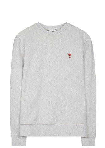 SS17 De Coeur Heart Sweatshirt in Heather Grey