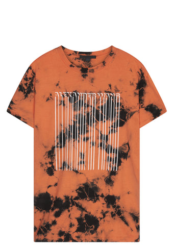 SS17 Tie-Dye Barcode T-shirt in Orange