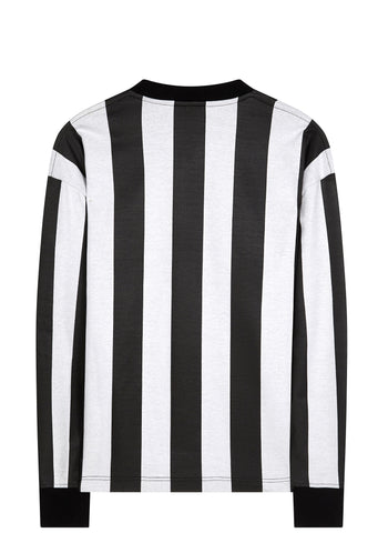 SS17 Long Sleeve Striped Soccer Jersey in Black/White