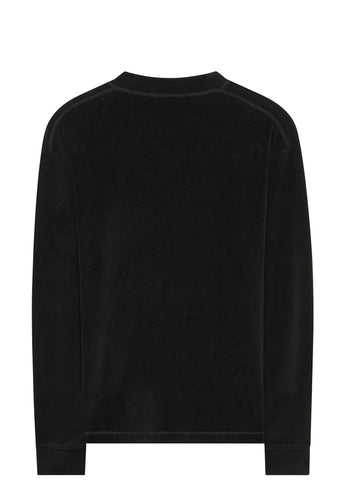 SS17 Velour Stripper Pole Long Sleeve T-shirt in Black