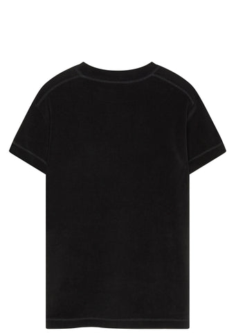 SS17 Velour Stripper Pole T-shirt in Black