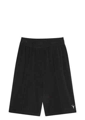 SS17 Velour Stripper Basketball Shorts in Black