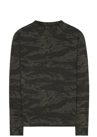 SS17 Mock Neck Long Sleeve T-Shirt in Camo