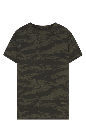 SS17 Panel Insert Short Sleeve T-Shirt in Camo