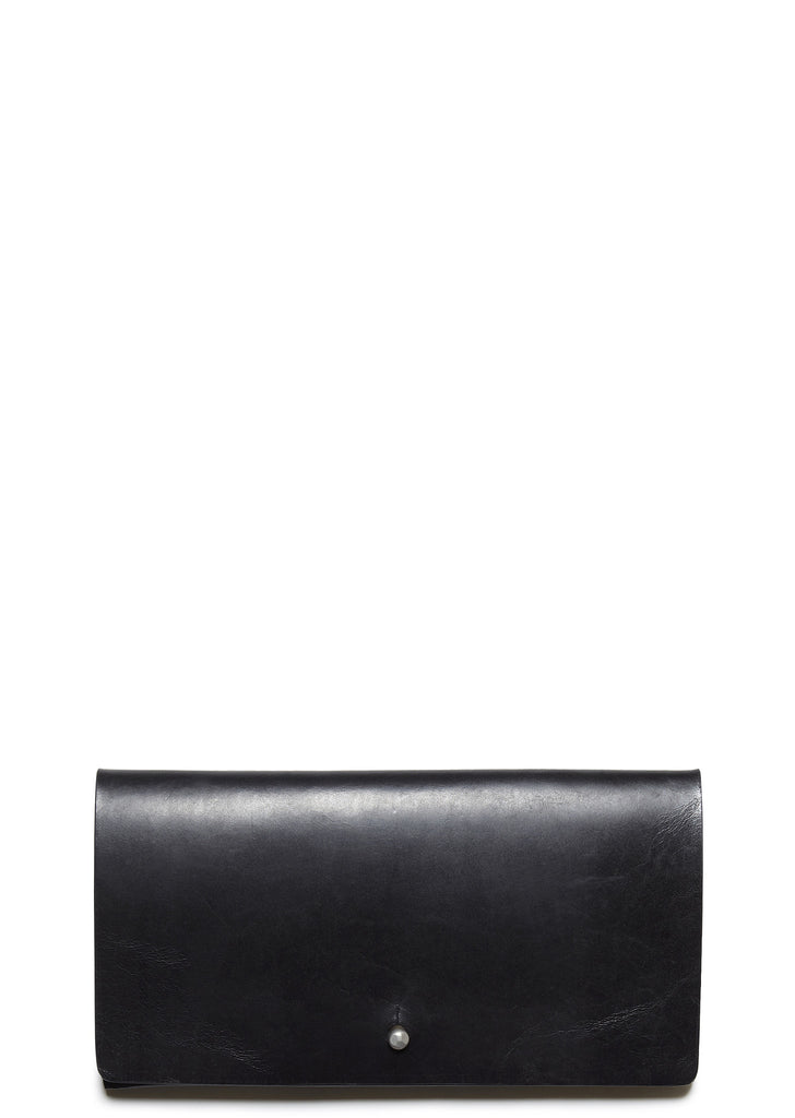 SS17 Leather Flat Wallet in Black