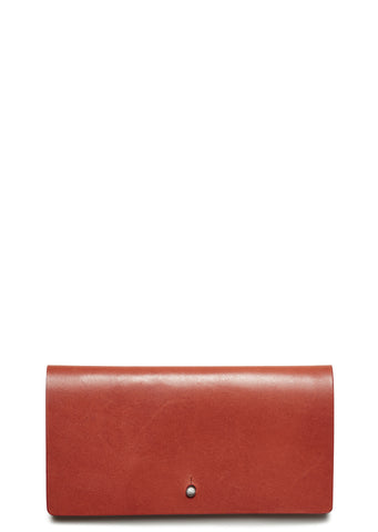 SS17 Leather Flat Wallet in Red