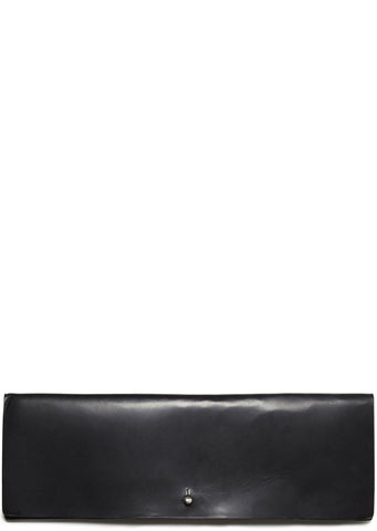 SS17 Leather Clutch in Black