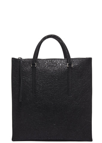 SS17 3D Leather Edith Vertical Shoulder Bag in Black