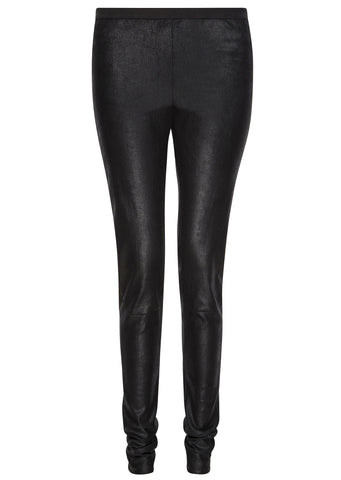 SS17 Leather Leggings in Black