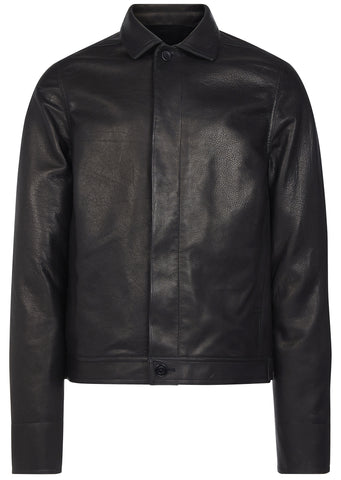 SS17 Brotherhood Leather Jacket in Black