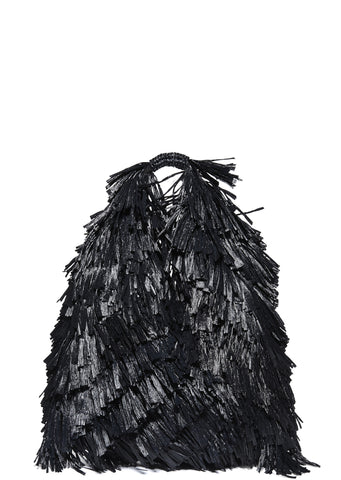 SS17 Raffia Japanese Bag in Black