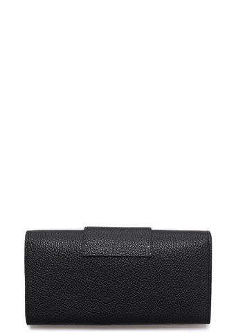 SS17 Grained Leather Large Purse in Black