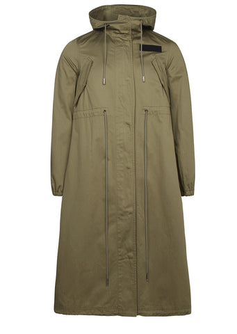 SS17 Washed Cotton Parka in Olive