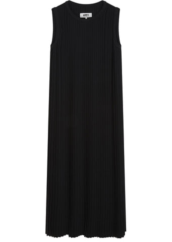 SS17 Long Pleated Dress in Black