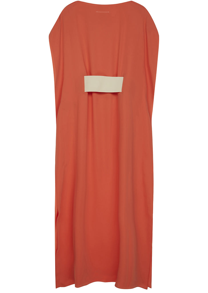 SS17 Long Banded Panel Dress in Orange