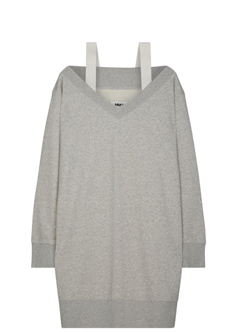 SS17 Shoulder Strap Sweatshirt Dress in Grey