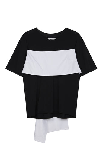 SS17 Stretch Jersey Tie Back Top in Black