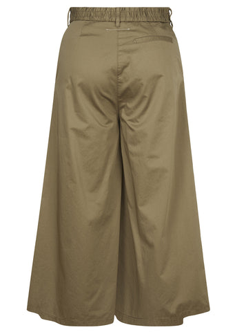 SS17 Cotton Poplin Culotte in Olive