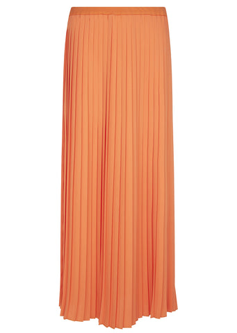 SS17 Pleated Long Skirt in Orange