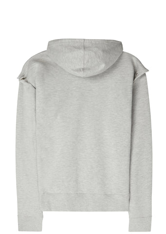 SS17 Detachable Hooded Sweatshirt in Grey