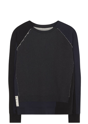 SS17 Re-Edition Oversized Patch Sweatshirt in Dark Grey