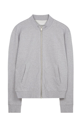 SS17 Elbow Patch Cotton Bomber in Grey