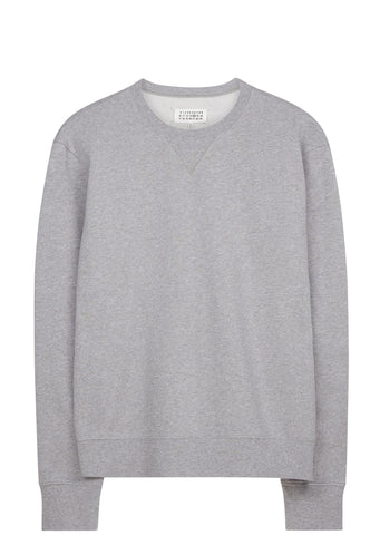 SS17 Elbow Patch Crewneck Sweatshirt in Heather Grey