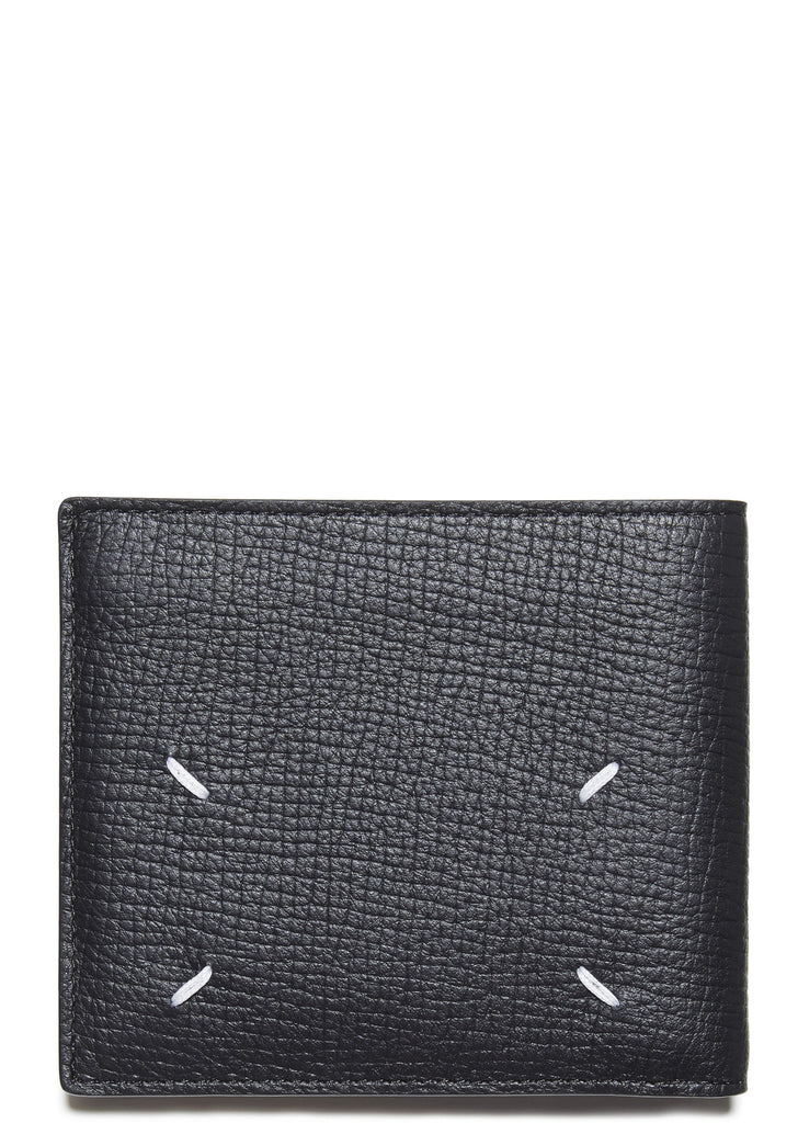 SS17 Calf Leather Billfold Wallet in Black