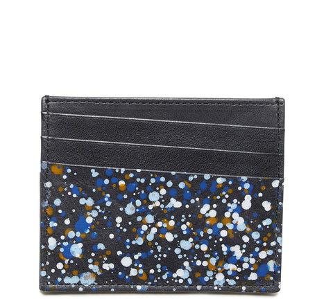 SS17 Paint Splatter Billfold Wallet in White