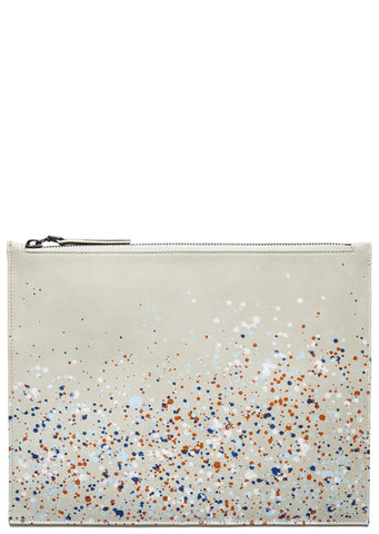 SS17 Paint Splatter Document Holder in White
