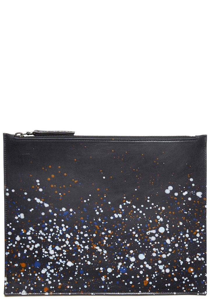 SS17 Paint Splatter Document Holder in Black