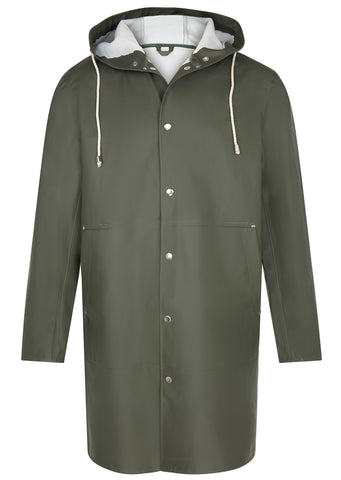SS17 long sleeve Raincoat in Green