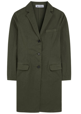 SS17 Three Button A-line Coat in Army