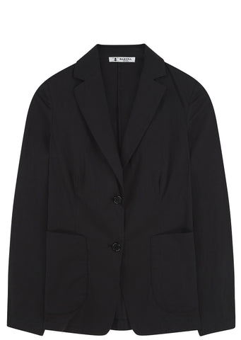 SS17 Masin Two Button Blazer in Black