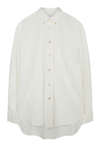 SS17 Original Button Down Basket Weave Shirt in White