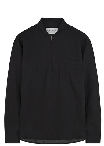 SS17 Shawl Zip Shirt in Black
