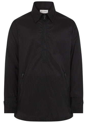 SS17 Half Zip Parachute Smock in Black