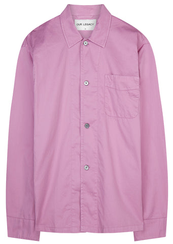 SS17 Satin Box Shirt in Glow Pink