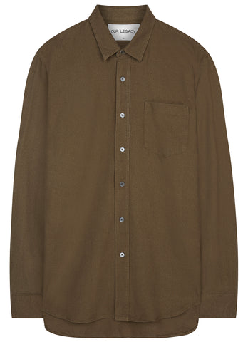 SS17 Classic Silk Shirt in Olive